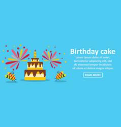 birthday cake banner horizontal concept vector image