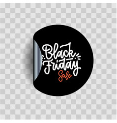 black friday calligraphy lettering on black vector image