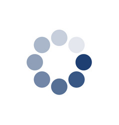 Blue loading circle icon buffer loader or vector