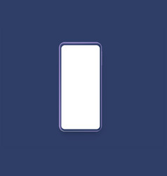 blue smartphone with blank screen vector image