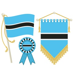 botswana flags vector image vector image