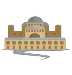 Byzantium ancient building capitol constantinople vector