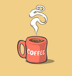 cartoon cup of coffee vector image