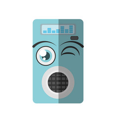 Cartoon music mp3 icon wink vector