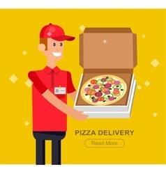 cartoon pizza delivery guy vector image