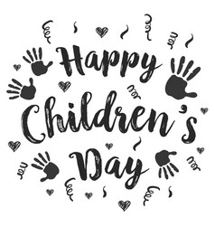 Children day hand draw style art vector
