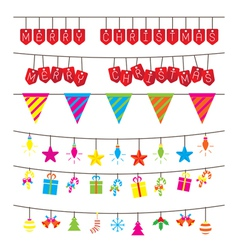 Christmas and Hanging Decoration Objects vector