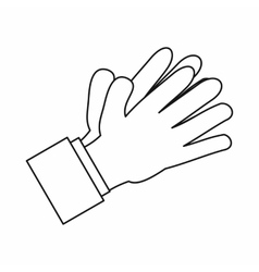 Clapping applauding hands icon outline style vector image