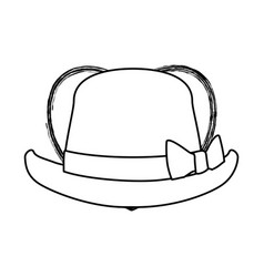 classic vintage hat vector image