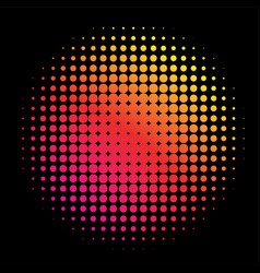 colorful rainbow circle in halftone halftone dot vector image