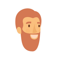 Colorful silhouette of man face with reddish hair vector