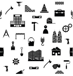 construction seamless pattern background icon vector image