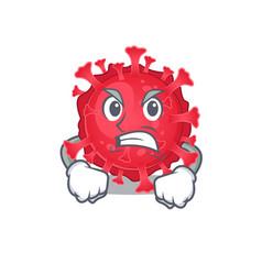 Coronavirus substance cartoon character design vector