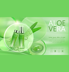 cosmetic bottle transparent for advertisement vector image