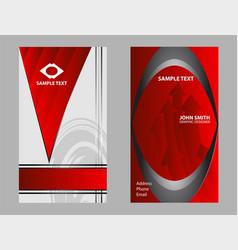 creative business card set or visiting card set ve vector image