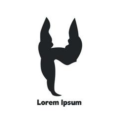 doberman face logo element for your design vector image