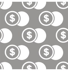 Dollar coin seamless pattern vector image