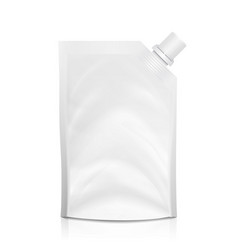 Doy-pack blank white clean doypack bag vector