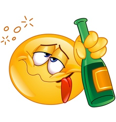 drunk emoticon vector image