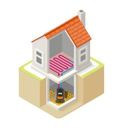 Energy Chain 07 Building Isometric vector image