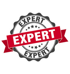 expert stamp sign seal vector image