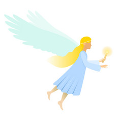 Female angel with candle vector