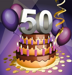 fiftieth birthday vector image