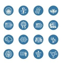 Flat Design Business Icons Set vector