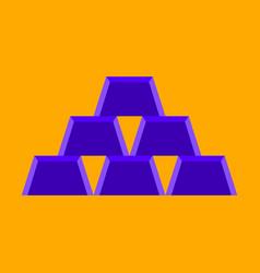 flat icon on stylish background gold bars vector image