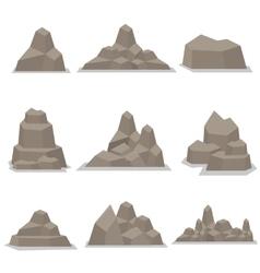 Flat stones art vector
