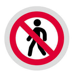 Forbidden sign modern round sticker vector