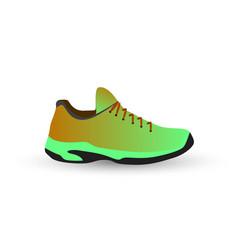 green sneaker vector image