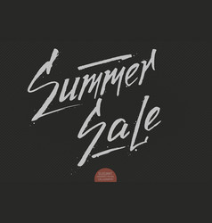 Hand drawn lettering - summer sale elegant modern vector