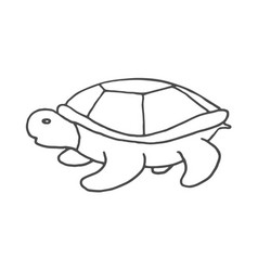 Hand drawn turtle doodle sketch style icon vector