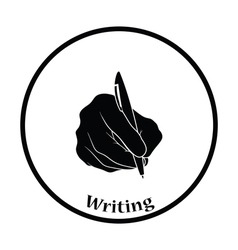 Hand with pen icon vector image