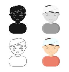 head injury icon cartoon single sick icon from vector image
