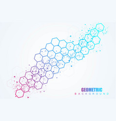 hexagonal abstract background big data vector image