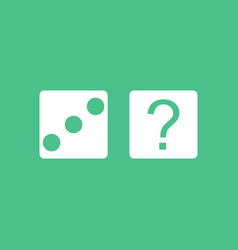 Icon dice and question mark vector