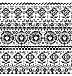 Indian trucks art seamless pattern vector