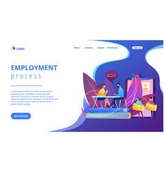 Job interview concept landing page vector