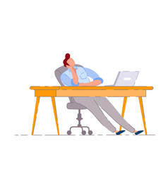 Lazy worker isolated bored business man vector