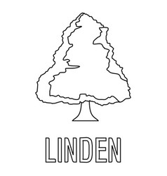 Linden icon outline style vector