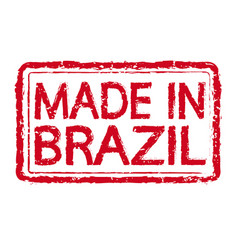 made in brazil stamp text vector image