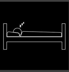 man sleeping the white path icon vector image