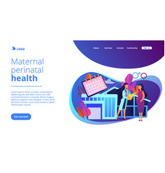 Maternity services concept landing page vector