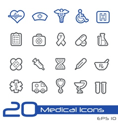 Medicine Health Care Outline Series vector image