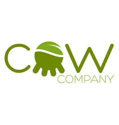 modern cow logo vector image