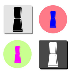 nail polish flat icon vector image