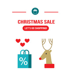 new year christmas sale let s go shopping design vector image