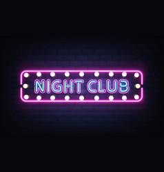 night club neon retro signboard realistic vector image